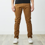 Slim 5 Pocket Twill Colored Jean // Tobacco (36WX30L)