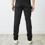 Destructed Twill Pants // Black (38WX32L)