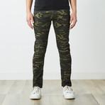 Destructed Twill Pants // Olive Camo (30WX30L)