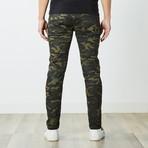 Destructed Twill Pants // Olive Camo (32WX32L)