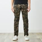 Slim Fit Moto Jeans // Olive Camo (32WX32L)