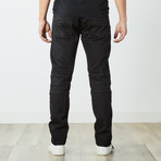 Slim Fit Moto Jeans // Black (38WX32L)