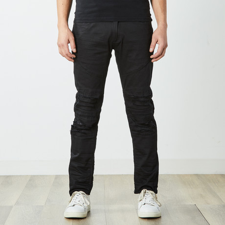 Destructed Twill Pants // Black (30WX30L)