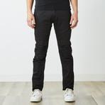 Destructed Twill Pants // Black (30WX32L)