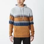 Multi Striped Pullover Hooded Sweater // Multicolor (S)