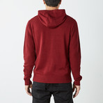 Ribbed Pullover Hooded Sweater // Maroon (S)