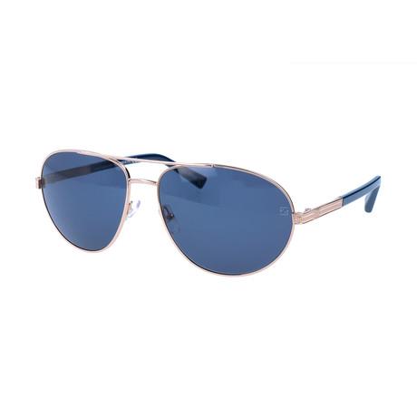 Ermenegildo Zegna // Men's EZ0011 Sunglasses // Silver + Blue