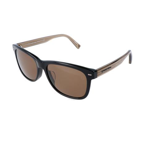 Ermenegildo Zegna // Men's EZ0028-FN Sunglasses // Black + Brown