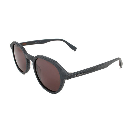 Boss Orange // Unisex 0321S Sunglasses // Matte Gray + Wood