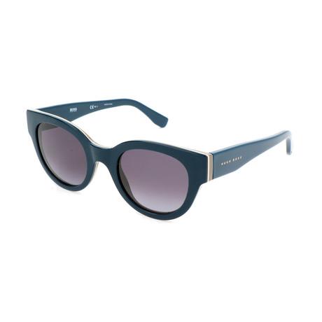 Hugo Boss // Women's 0888 Sunglasses // Green + Gray