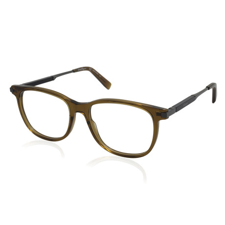 Ferragamo // Men's Acetate Metal Combo Optical Frames // Crystal Brown