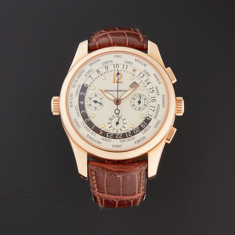 Girard-Perregaux World Time Chronograph Automatic // 4980 // Pre-Owned