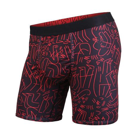 Entourage Boxer Brief // Black + Red (S)