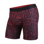 Entourage Boxer Brief // Black + Red (M)