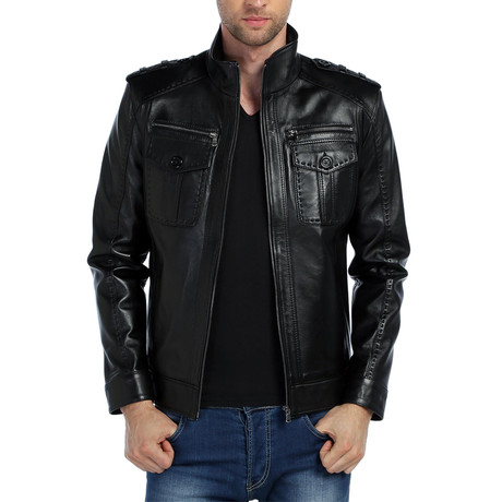 Scoter Leather Jacket // Black (XS)