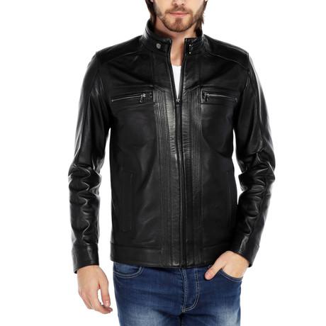 Columbidae Leather Jacket // Black (XS)