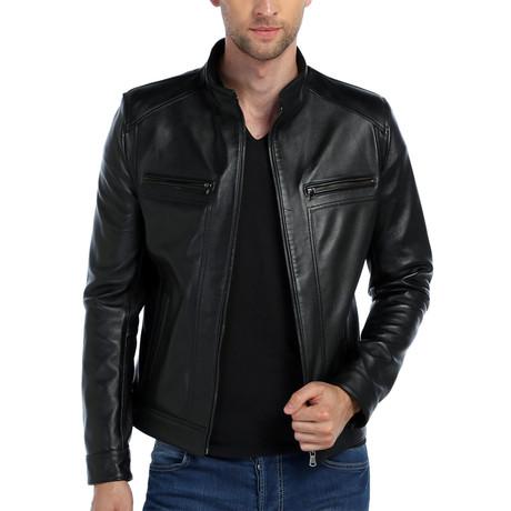 Swan Leather Jacket // Black (XS)