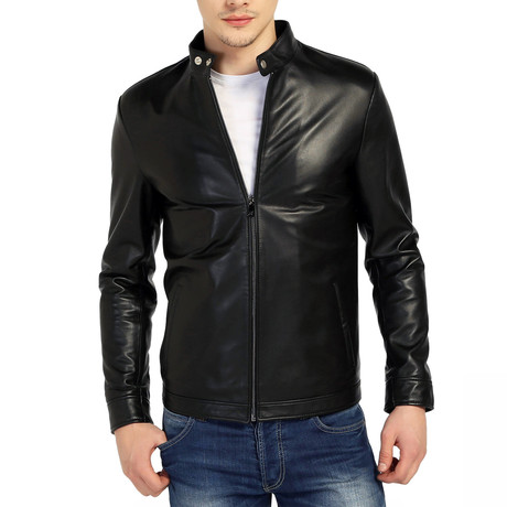 Hornbill Leather Jacket // Black (XS)