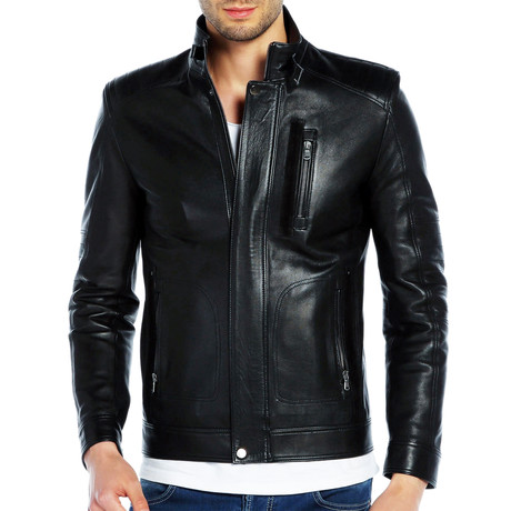 Gadwall Leather Jacket // Black (XS)