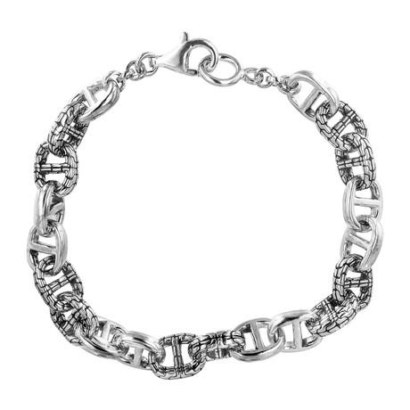 """Men's Silver Link Bracelet V2 (9"""")"""