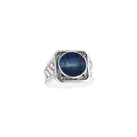 Silver + Pietersite Ring (9)