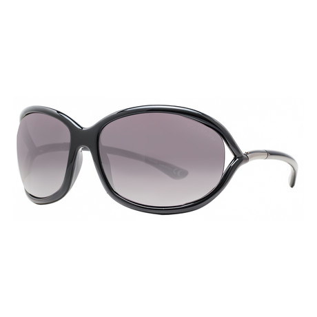 Women's Jennifer Soft Square Sunglasses V1 // Black + Gray