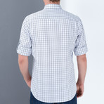 Drew Button-Up Shirt // Blue + White (Large)
