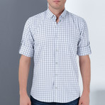 Drew Button-Up Shirt // Blue + White (3X-Large)