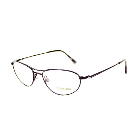 Tom Ford // Men's Metal Modified Aviator Optical Frames // Brown
