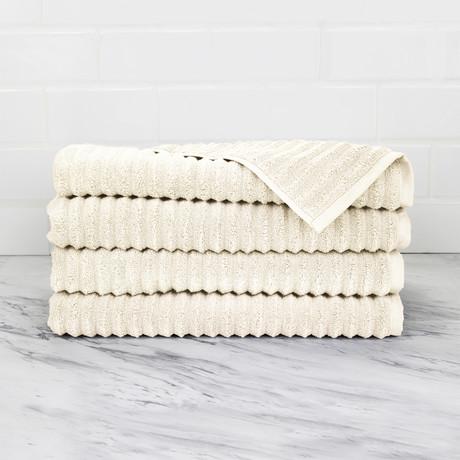 Zero Twist Hand Towel // 4 Piece Set (Anthrac Grey)