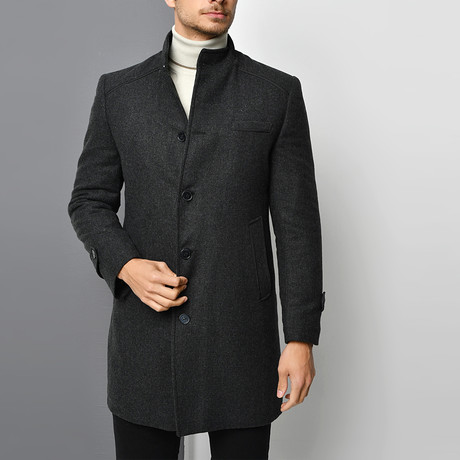 Lucca Overcoat // Patterned Anthracite (Small)