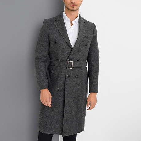 Oslo Overcoat // Patterned Anthracite (Small)