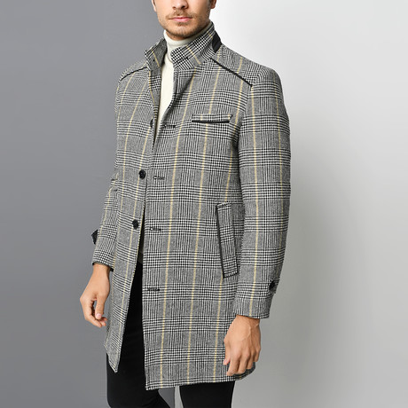 Lucca Overcoat // Checkered Gray (Small)