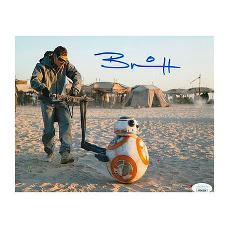 """Autographed Photo // Star Wars """"BB-8"""" // Brian Herring"""