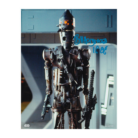 """Autographed Topps Photo // Star Wars """"IG-88"""" // Bill Hargreaves"""