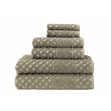 Glossy // 6 Piece Towel Set (Anthracite)