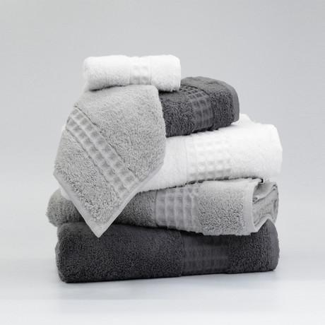 Ela // 6 Piece Towel Set (Anthracite)