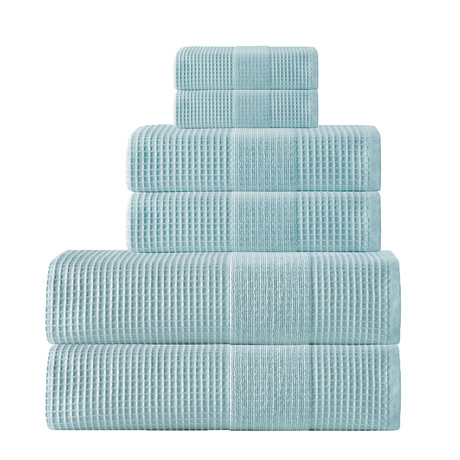 Ria // 6 Piece Towel Set (Aqua)