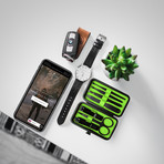 Luxury Manicure Set // Lime Green (7 Piece Set)