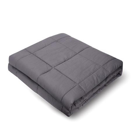 Weighted Blanket // Minky Cover + Cotton Inner Weight Sleeve // Queen Size (15 lb)