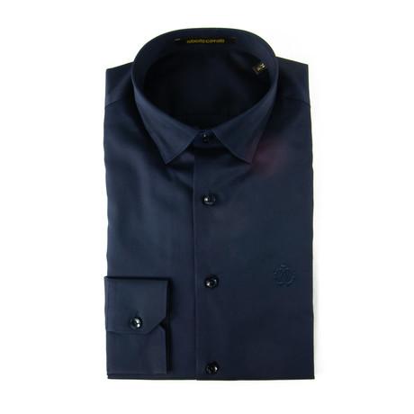 Narciso Slim Fit Dress Shirt // Navy (US: 15R)