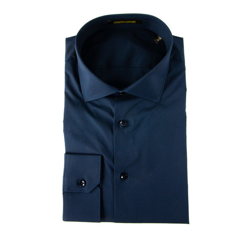 Renato Comfort Fit Dress Shirt + Logo // Navy (US: 14.5R)