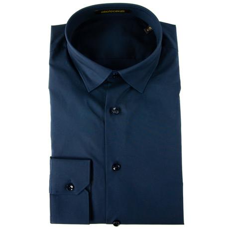 Orland Slim Fit Dress Shirt // Navy (US: 14.5R)