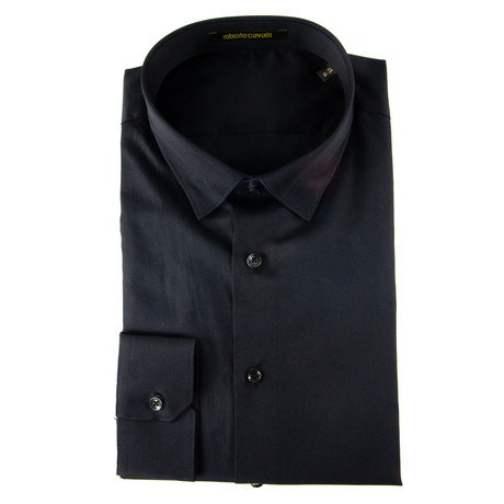 Rinaldi Slim Fit Dress Shirt // Black (US: 14.5R)