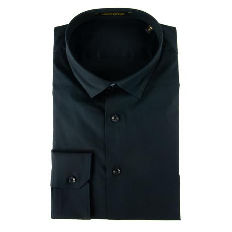 Giordano Slim Fit Dress Shirt // Black (US: 15R)