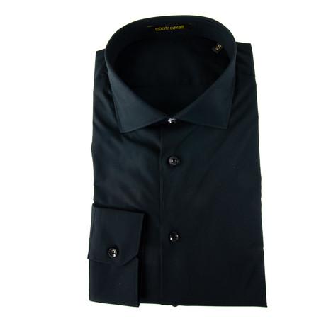 Alfredo Comfort Fit Dress Shirt + Logo // Black (US: 14.5R)