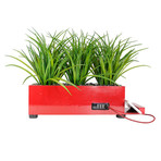 PowerPlant 4-Port Tall Grass Charging Station // Red