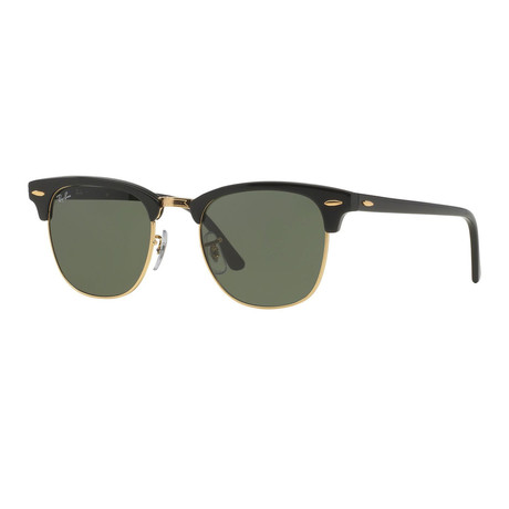 Unisex Clubmaster Sunglasses // Black + Green