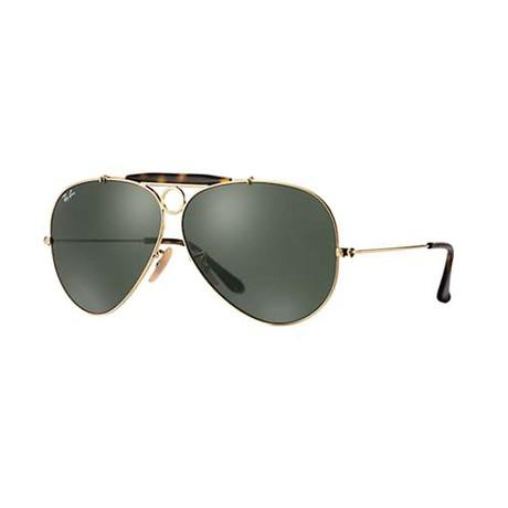 Unisex Shooter Sunglasses // Gold + Dark Green