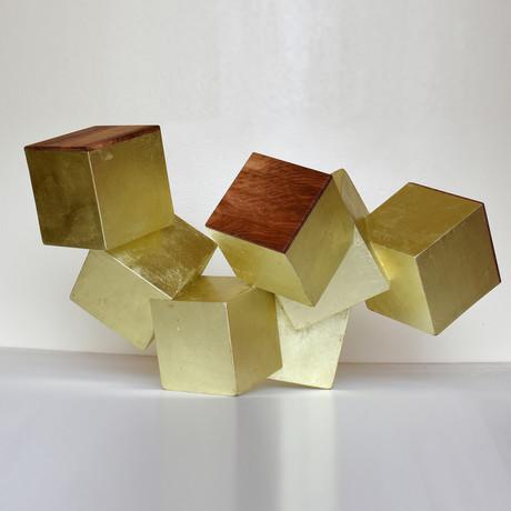 24k Gold and Paduk Pyrite